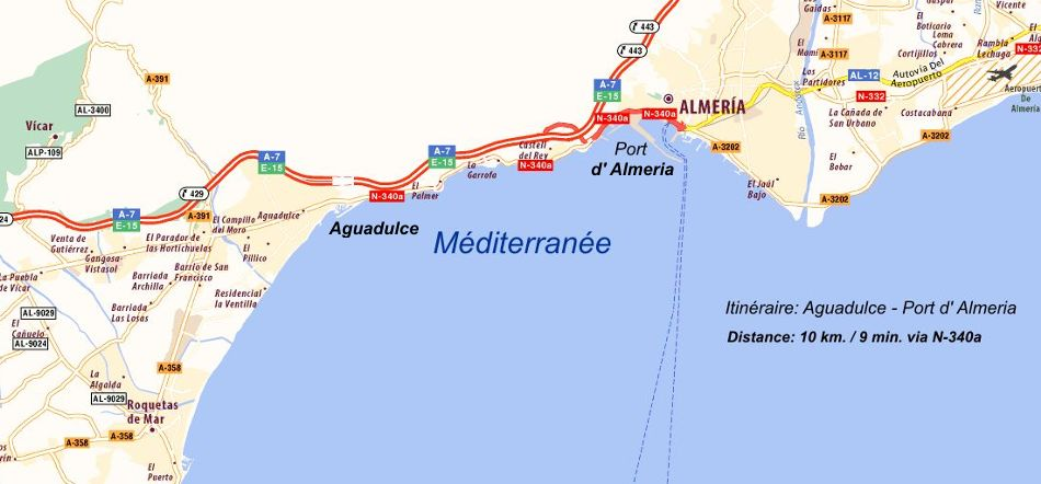 carte port Almeria